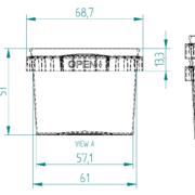 120ml Tamper Evident Plastic Container