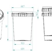 200ml Tamper Evident Plastic Container
