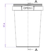 215ml Tamper Evident Plastic Container