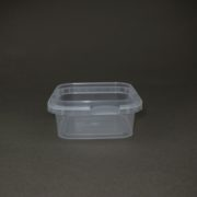 TOPPAC 185ml Square 105 x 105mm plastic container
