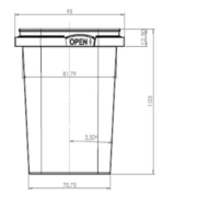 520ml 95mm x 95mm Square Tamper evident container TOPPAC