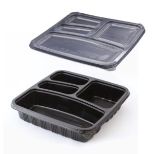 SKP-square-4-compartment-container-set---Black