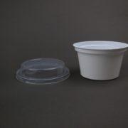 Yoghurt cup and lid suitable for muesli Australia