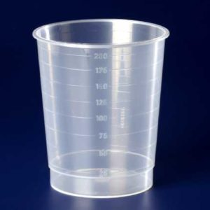 Medical measuring cup_drinking cup